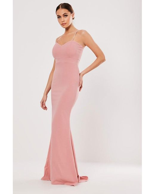 Missguided - Pink Sweetheart Gown At - Lyst