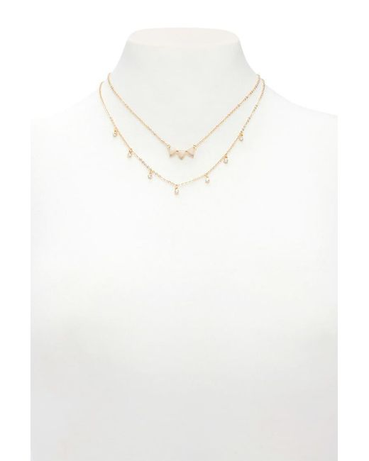 Forever 21 - Multicolor Faux Stone Layered Necklace - Lyst