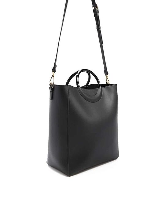 Forever 21 - Black Faux Leather Tote Bag - Lyst