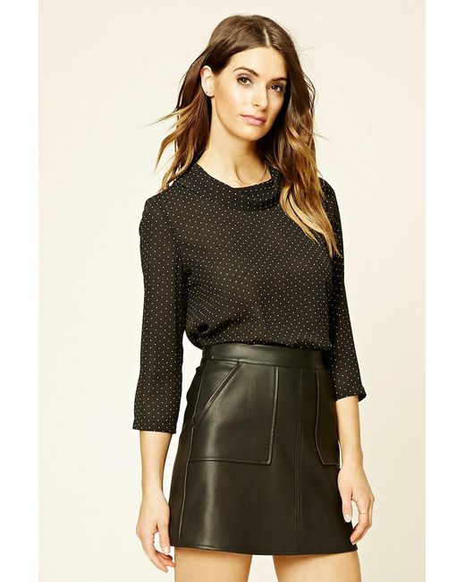 Forever 21 | Black Contemporary Polka Dot Top | Lyst