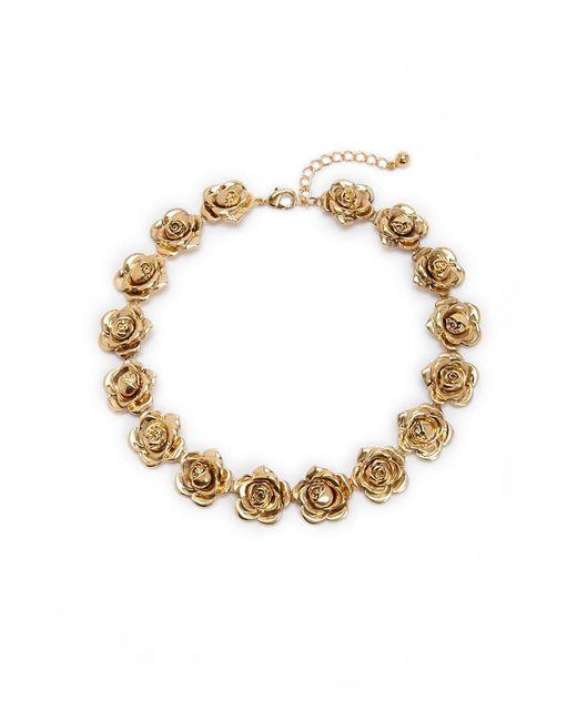 Forever 21 - Metallic Women's Rosette Statement Necklace - Lyst