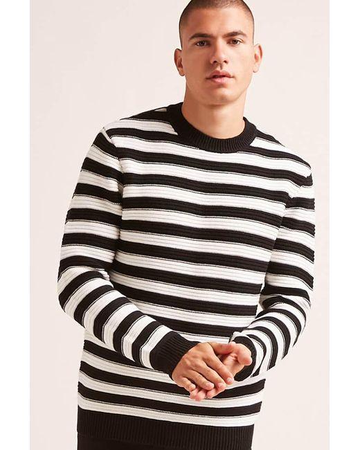 Forever 21 - Black Ribbed Stripe Sweater for Men - Lyst
