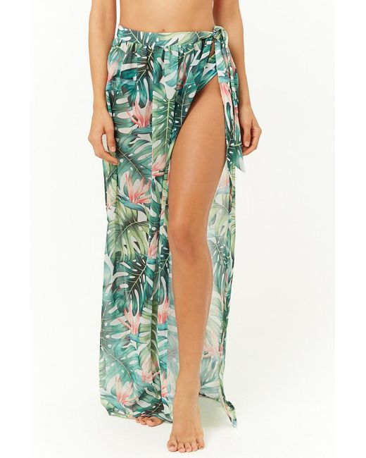 d92f5a93af752 ... Forever 21 - Red Kulani Kinis Floral Swim Cover-up Maxi Skirt - Lyst