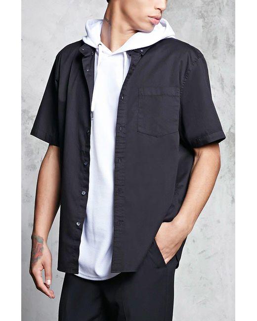 Forever 21 | Black Slim-fit Button-front Shirt for Men | Lyst