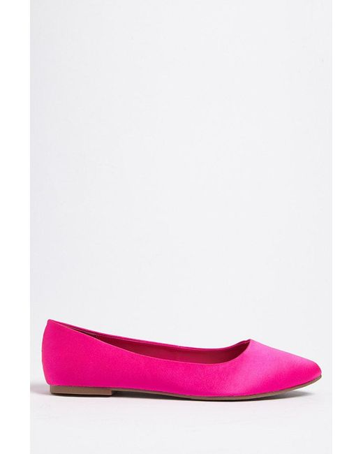 Forever 21 - Pink Pointed Toe Flats - Lyst