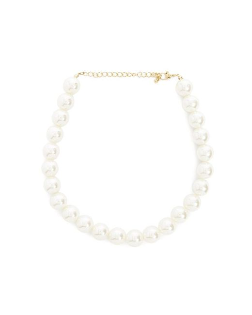 Forever 21 - Multicolor Faux Pearl Statement Necklace - Lyst