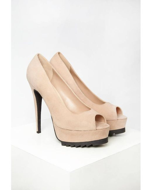 Forever 21 | Natural Ridged Platform Pumps | Lyst