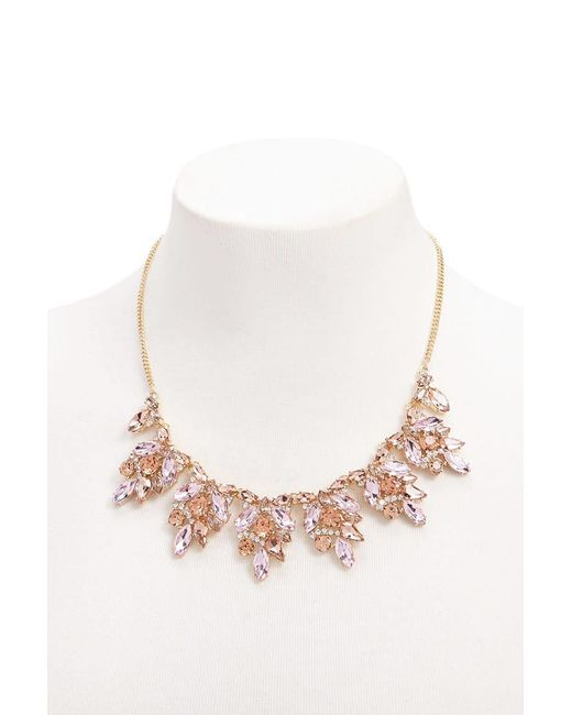 Forever 21 - Multicolor Faux Gemstone Statement Necklace - Lyst