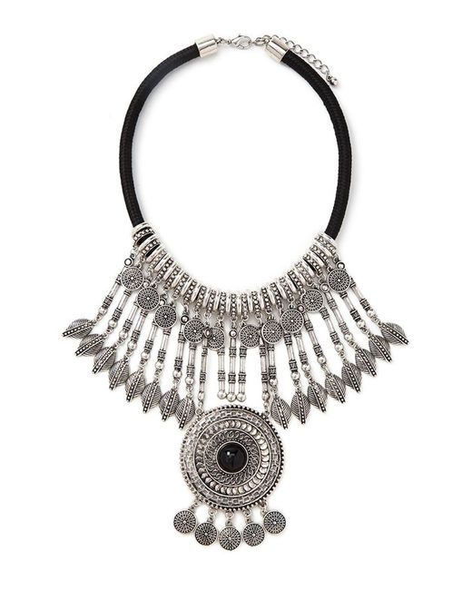 Forever 21 | Metallic Medallion Statement Necklace | Lyst