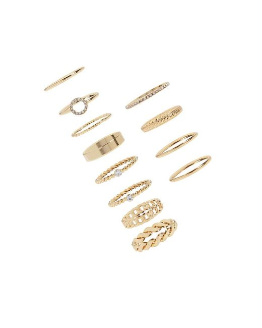 Forever 21 - Metallic Assorted Ring Set - Lyst