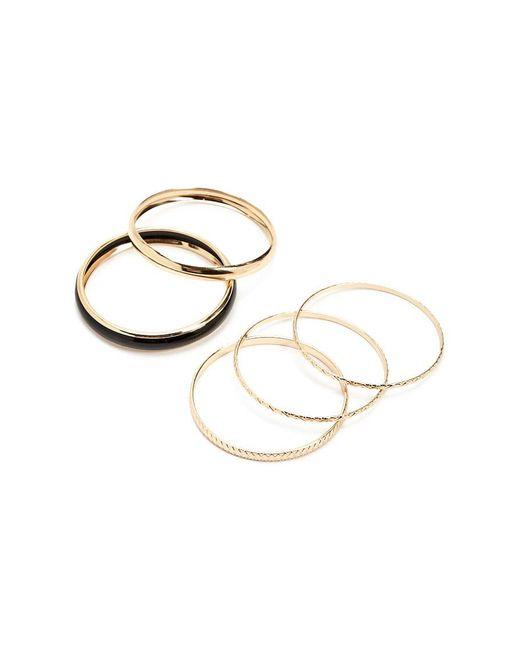 Forever 21 - Metallic Etched Bangle Bracelet Set - Lyst
