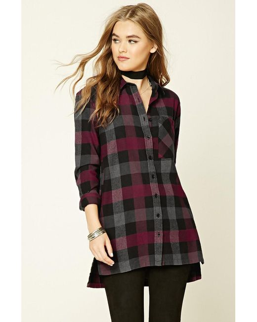 Forever 21   Red Buffalo Check Flannel Shirt   Lyst