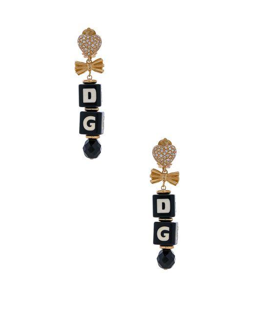 Dolce & Gabbana | Metallic Cube Drop Earrings | Lyst
