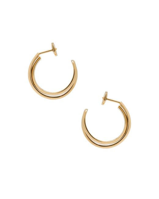 Maison Margiela | Metallic Fine Twisted Earrings | Lyst