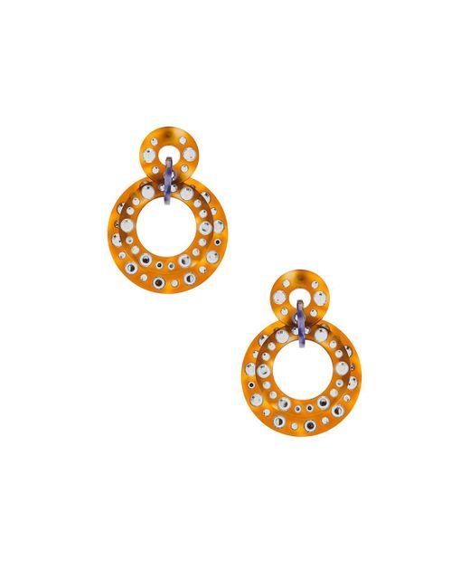 Lele Sadoughi - Metallic Starlight Crystal Hoop Earrings - Lyst