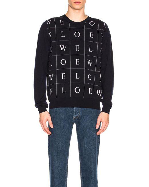 Loewe - Blue Letters Sweater - Lyst
