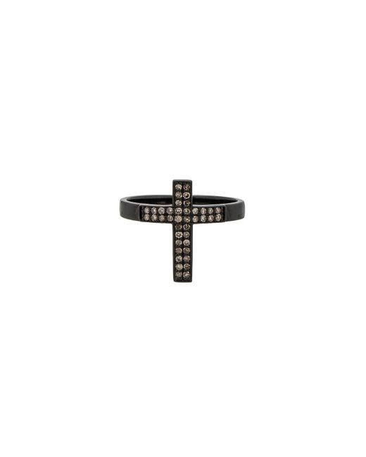 Lynn Ban - Multicolor Pave Cross Ring - Lyst