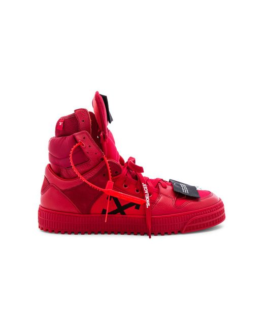 c7b6d4f4ec318d Off-White c/o Virgil Abloh Off-court High Leather & Canvas Sneakers ...