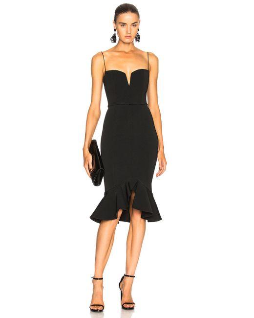 Nicholas - Black Flip Hem Bra Bandage Dress - Lyst