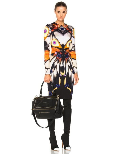 Givenchy | Multicolor Butterfly Print Long Sleeve Dress | Lyst