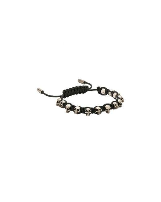 Alexander McQueen | Black Skull Friendship Bracelet | Lyst