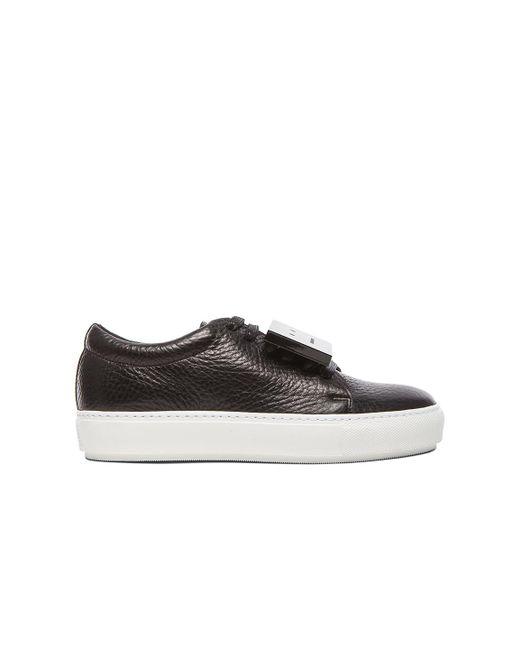 Acne | Black Adriana Leather Sneakers | Lyst