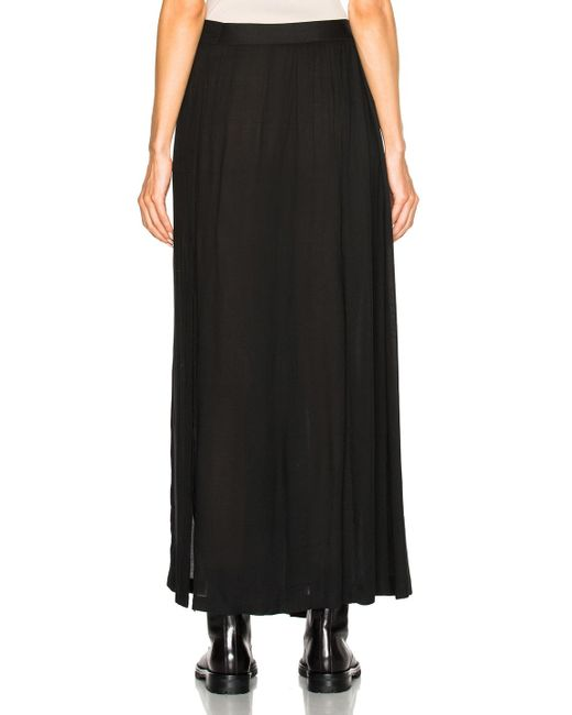 demeulemeester slit maxi skirt in black lyst