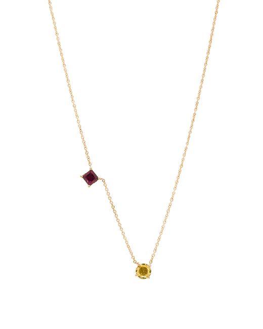 Ileana Makri | Metallic Round & Square Necklace | Lyst