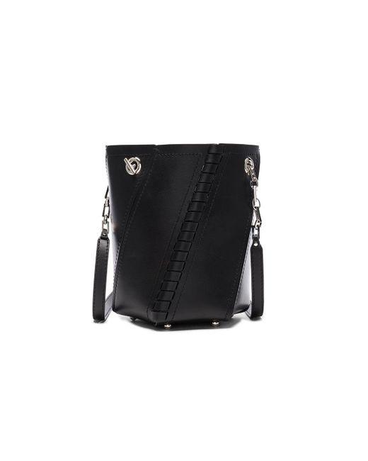 Proenza Schouler | Black Crossbody Hex Bucket Whipstitch Leather | Lyst