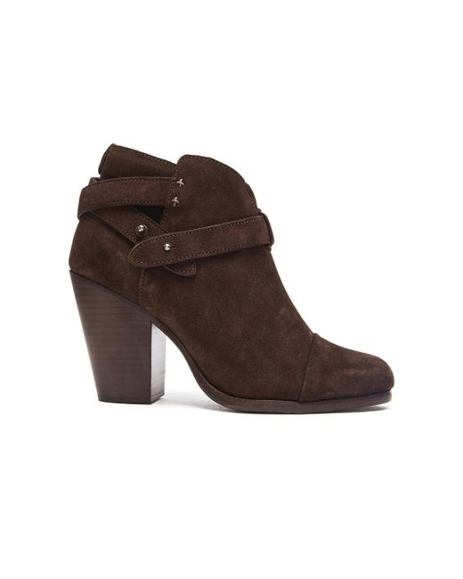 Rag & Bone | Brown Harrow Suede Booties | Lyst
