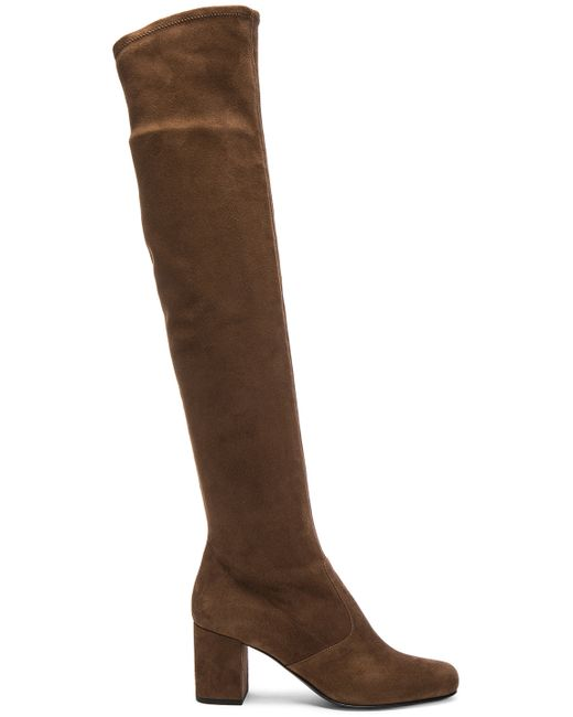 laurent stretch suede bb the knee boots in