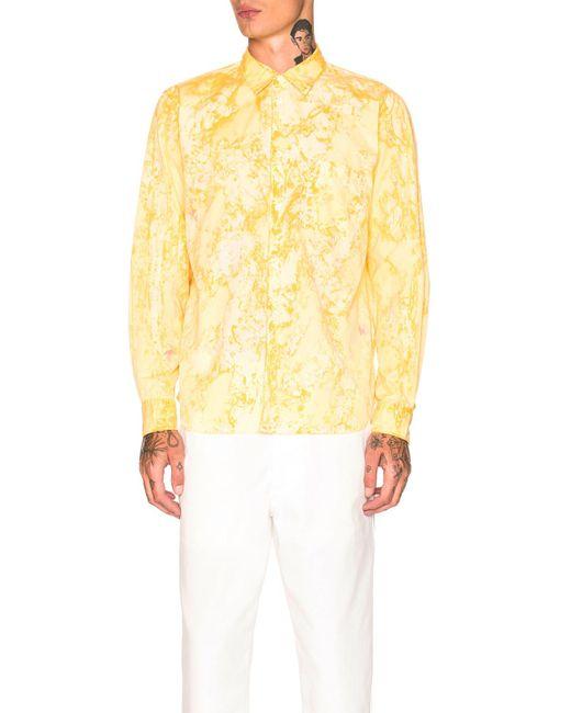Comme des Garçons - Yellow Hand Painted Shirt - Lyst