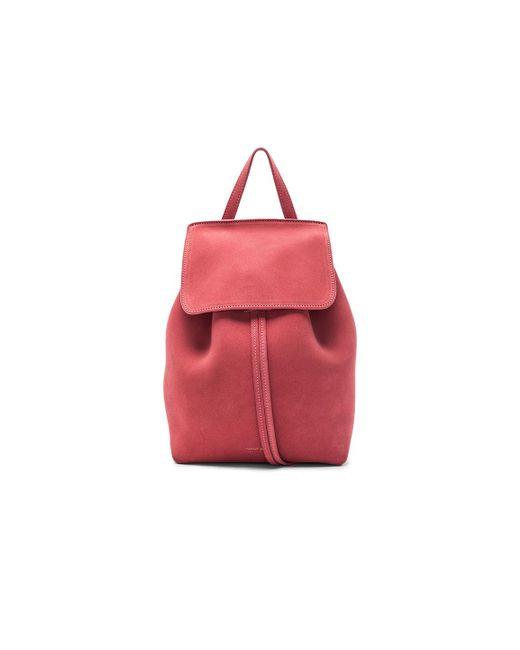 Mansur Gavriel - Red Mini Backpack - Lyst