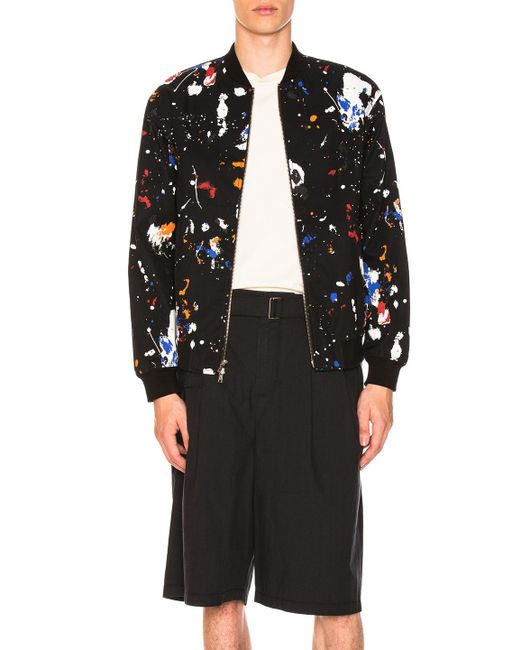 3.1 Phillip Lim - Black Painted Bomber Jacket - Lyst