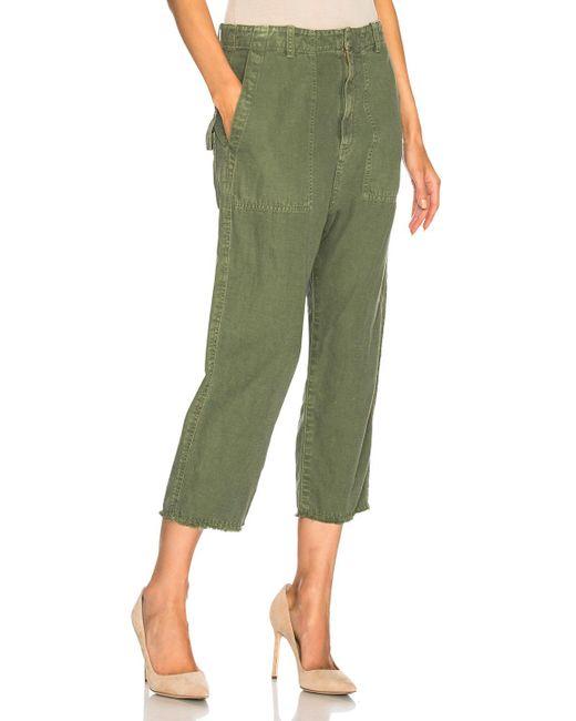 Nili Lotan   Green Luna Pant   Lyst