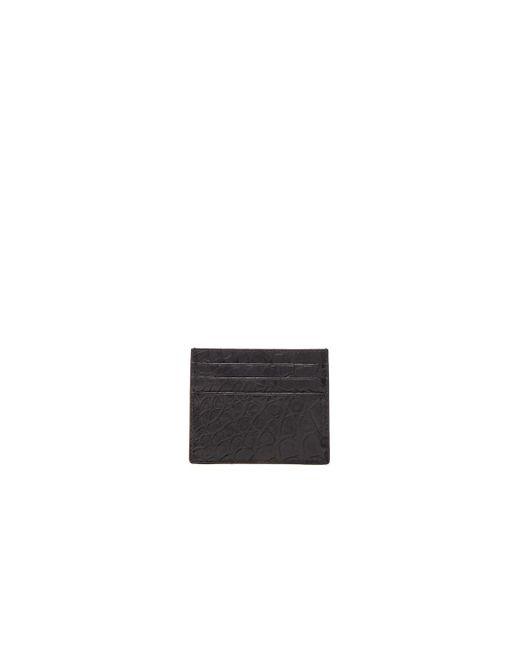 Bottega Veneta | Black Soft Crocodile Cardholder for Men | Lyst
