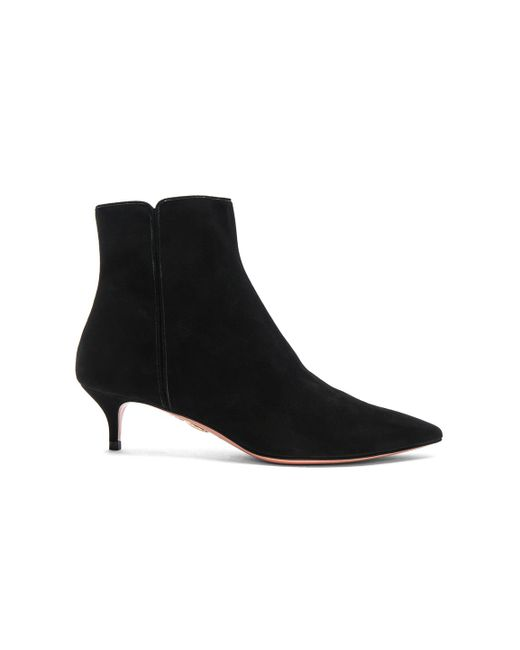 Aquazzura | Black Suede Quant Booties | Lyst