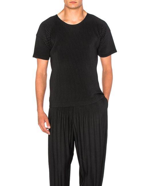 Homme Plissé Issey Miyake - Black Short Sleeve Tee for Men - Lyst