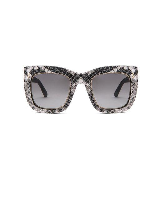 Stella McCartney - Black Falabella Chain Sunglasses - Lyst