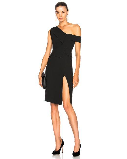 Michelle Mason | Black One Shoulder Dress | Lyst