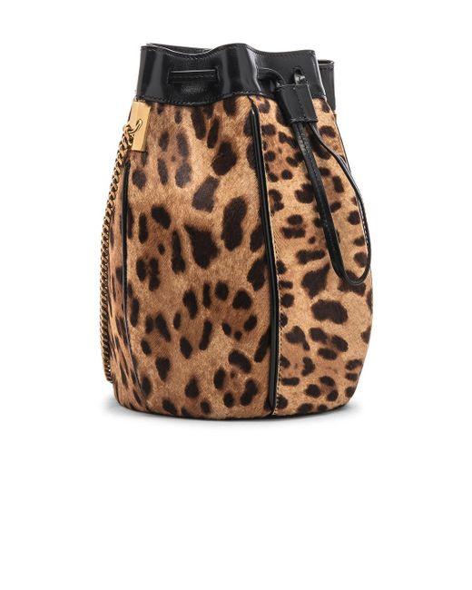607b6a462a4f ... Saint Laurent - Multicolor Talitha Leopard Print Calf Hair Bucket Bag -  Lyst