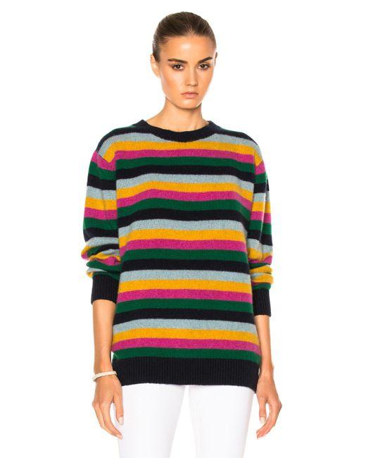 The Elder Statesman - Yellow For Fwrd Inch Stripe Sweater - Lyst