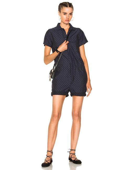 Engineered Garments   Blue Combi Suit   Lyst