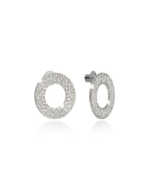 Rebecca - Metallic R-zero Rhodium Over Bronze Stud Drop Earrings - Lyst