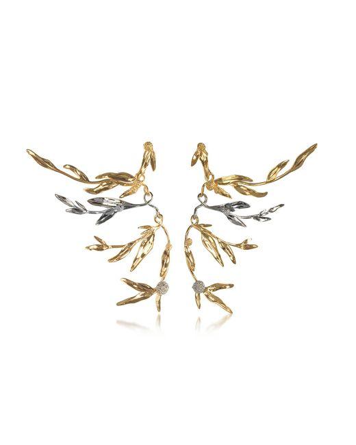 Aurelie Bidermann - Metallic 18k Gold-plated Brass Mimosa Articulated Earrings - Lyst