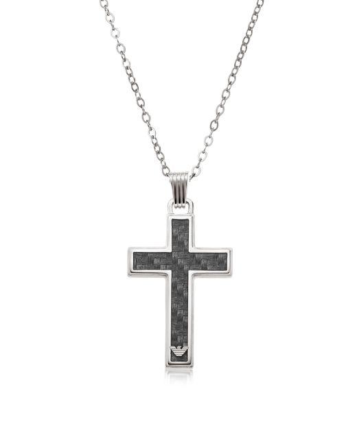 Emporio Armani | Metallic Silver Tone Stainless Steel Men's Necklace | Lyst