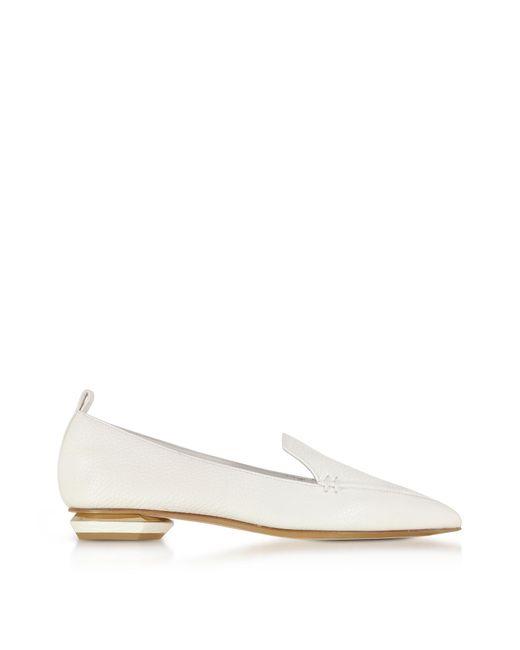 Nicholas Kirkwood | Beya White Leather Loafer | Lyst