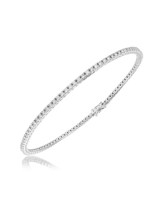 Forzieri - 1.05 Ctw White Diamond Eternity 18k Gold Tennis Bracelet - Lyst