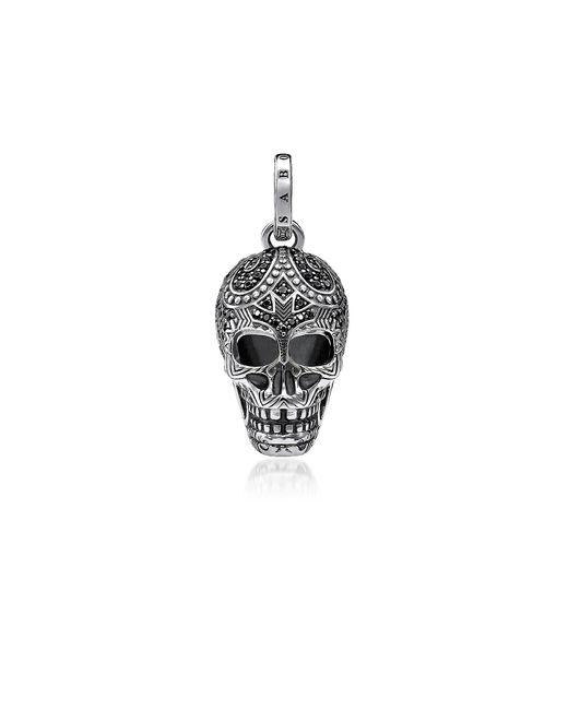 Thomas Sabo - Metallic Blackened 925 Sterling Silver And Zirconia Maori Skull Pendant for Men - Lyst
