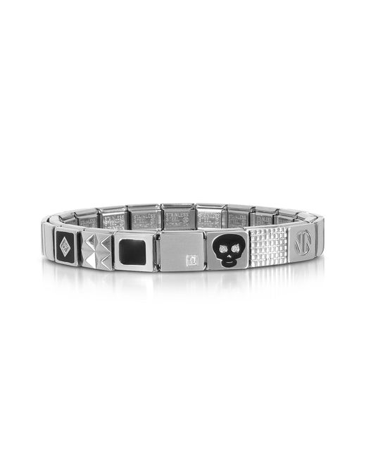 Nomination - Metallic Steel Ikons Black Skull Stainless Steel Bracelet W/cubic Zirconia for Men - Lyst